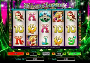 Unicorn Legend Slots Pay by Phone Free Spins Bonus