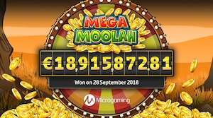 Mega Moolah 18 million Jackpot 1080 x 600